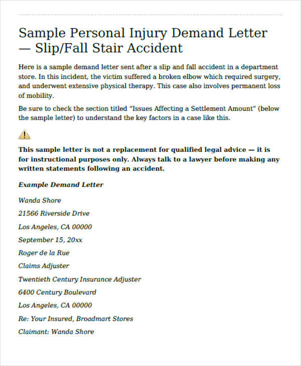 personal injury settlement demand letter1