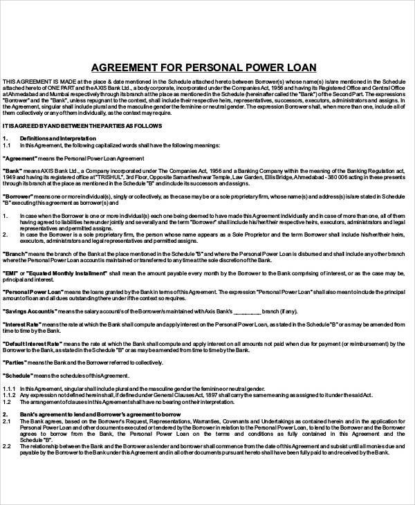 personal loan agreement1