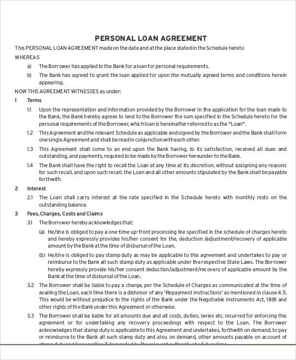 personal loan agreement2