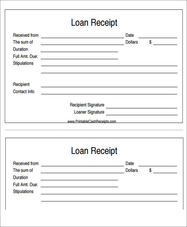 personal loan payment receipt1