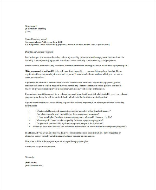 personal payment agreement letter1
