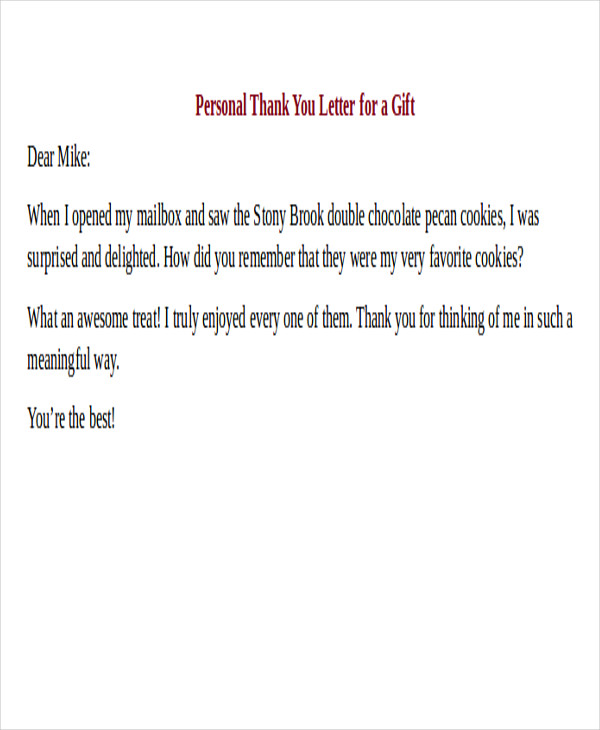 26 Sample Thank-You Letter Formats