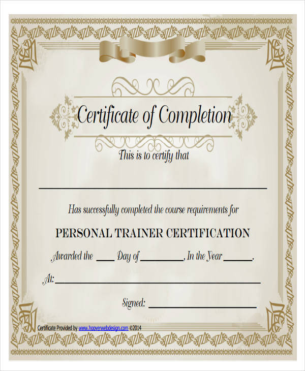 19 Free Training Certificates