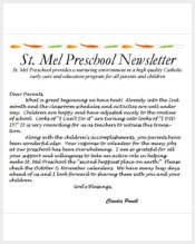 Free Newsletter Template For Preschool from images.sampletemplates.com