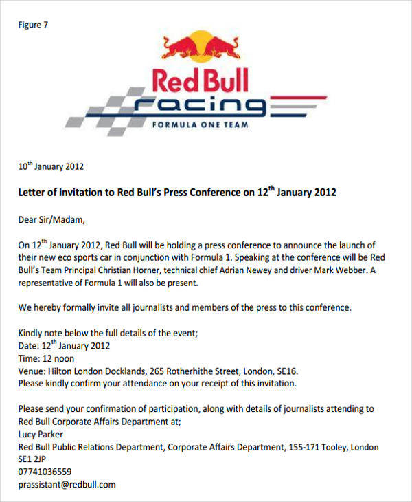 35 invitation letters press conference invitation letter stopboris Choice Image