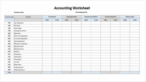 29 Printable Accounting Forms