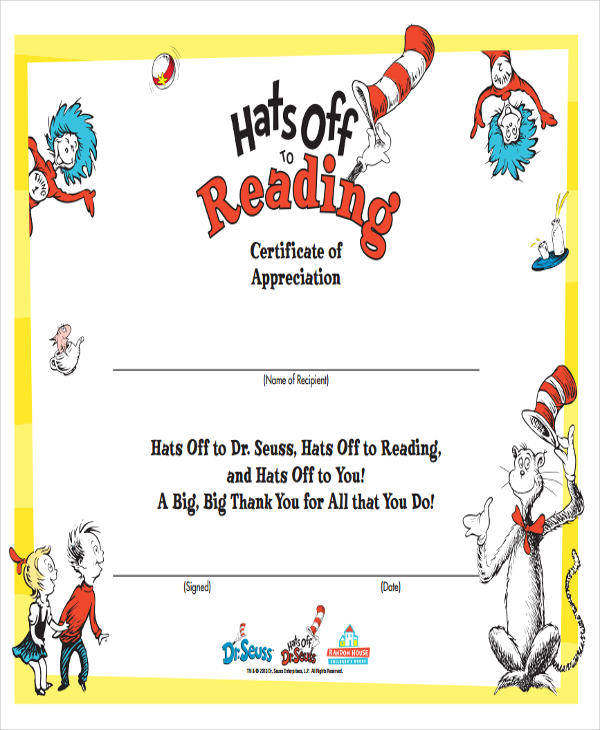 printable appreciation award certificate