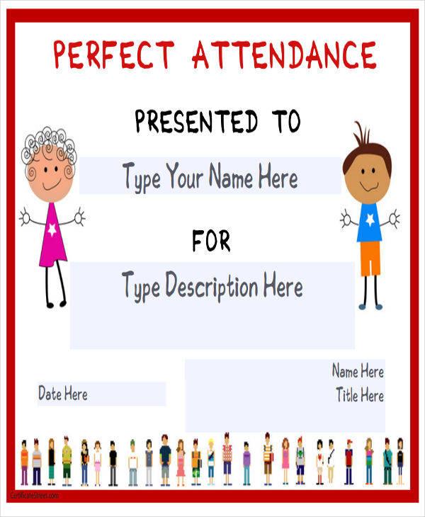 printable attendance award certificate1