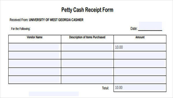 36+ Printable Receipt Forms | Sample Templates