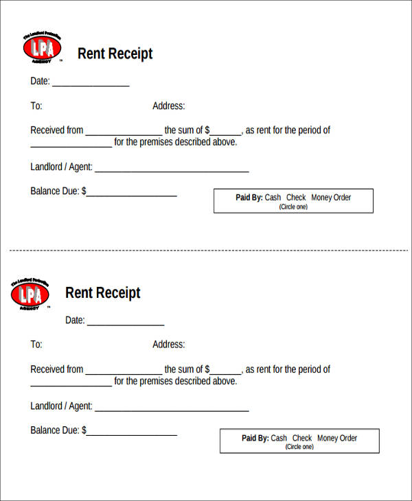 printable rent payment receipt1