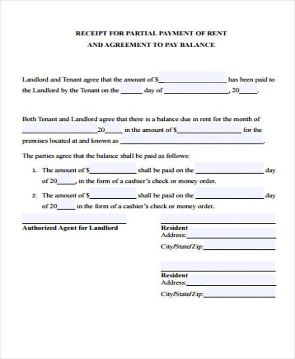 24 Payment Receipt Formats – Receipt for Payment