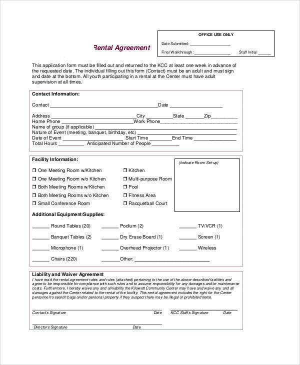 Dry Hire Agreement Template