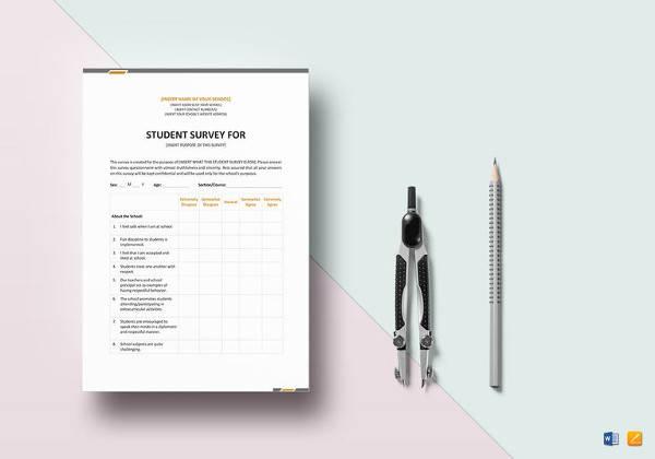 printable student survey template