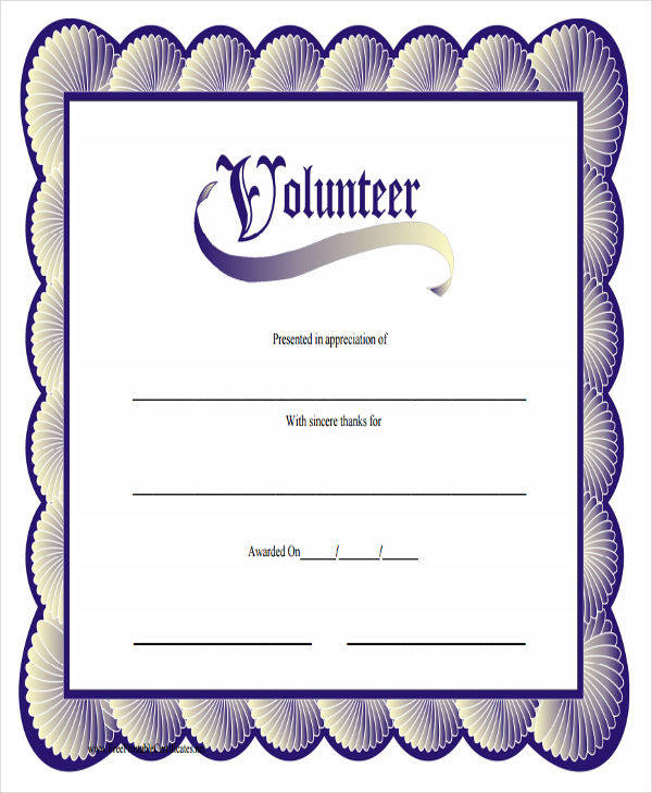 printable volunteer service award certificate1