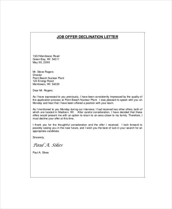 Professional-Job-Rejection-Letter1 Job Vacancy Application Letter Sample on job recommendation letter sample, english cover letter sample, response letter sample, brief cover letter sample, college admissions acceptance letter sample, federal resume cover letter sample, merchandiser cover letter sample, vacancy notice letter, applying for job letter sample,