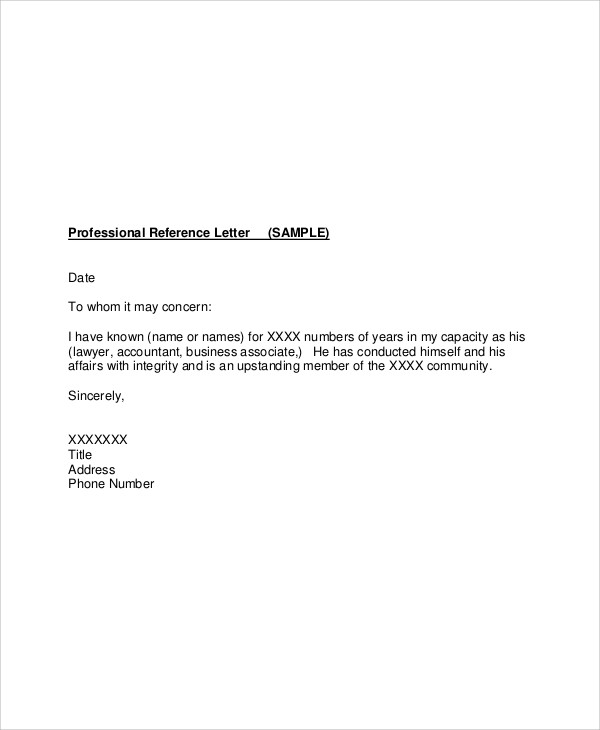 Professional reference letter accountant job reference letter accountant job reference letter doc expocarfo Image collections
