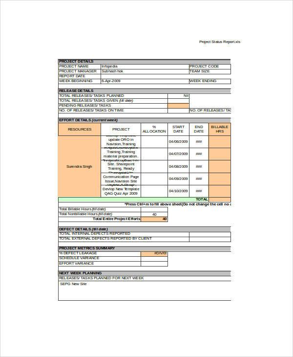 project status report1