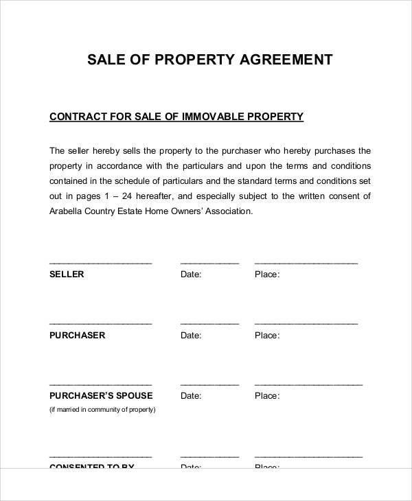 property agreement of sale1