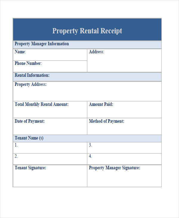 Rent Property: 12+ Examples In PDF, Word, Excel