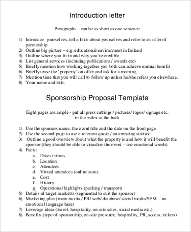 proposal introduction letter format