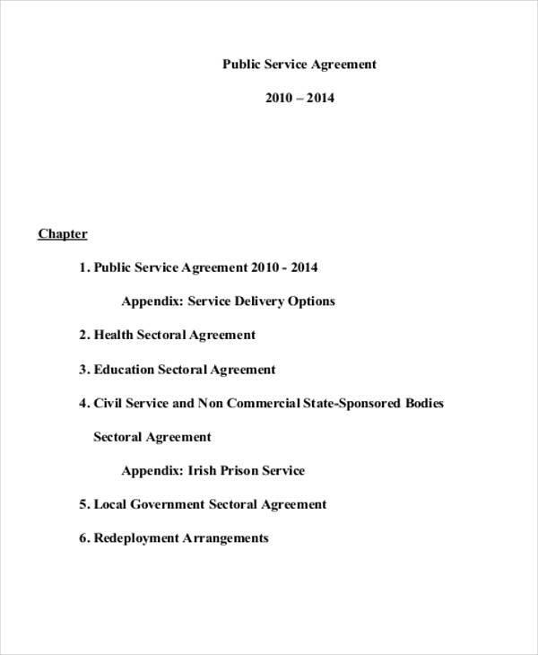 public service agreement