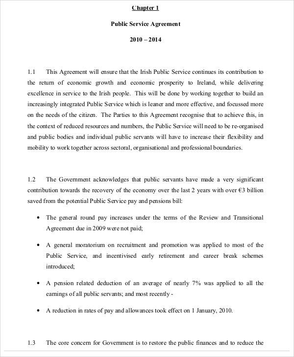public service agreement1