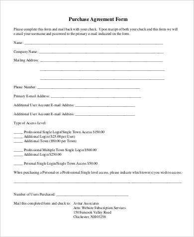 purchase agreement form1