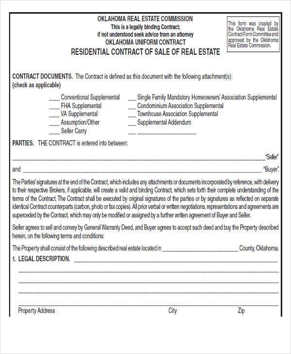 real estate sales agreement form2