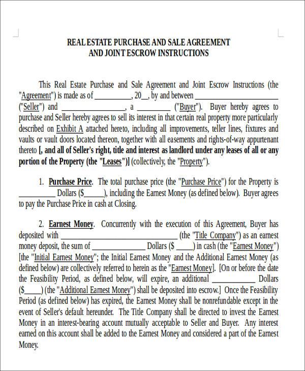 real estate sales agreement form3