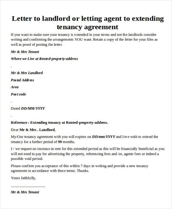rental agreement extension letter1