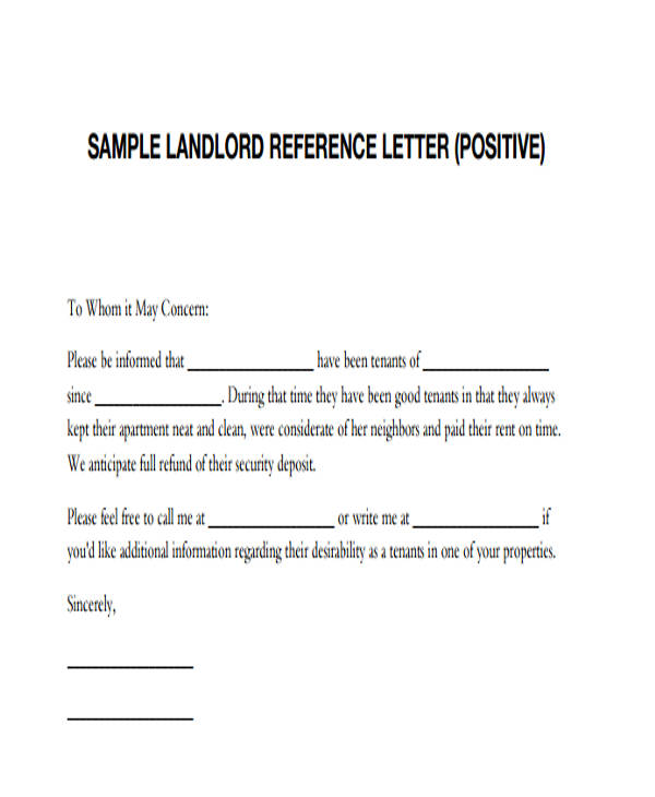 47 Examples Of Reference Letters Word Google Docs