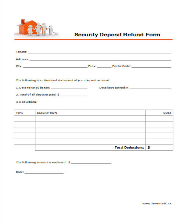 Rental Deposit Form Property Management System Database Custodian