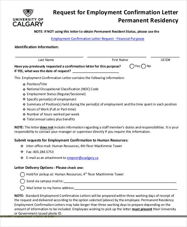 request for job confirmation letter1
