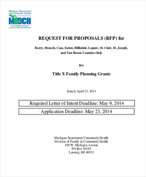 request for proposal letter of intent1