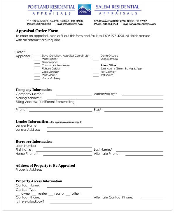 Appraisal Form In Pdf