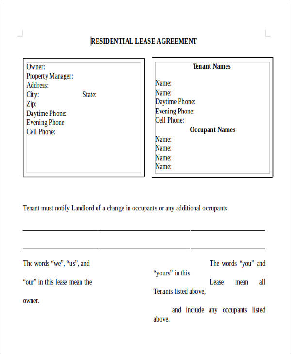 residential lease agreement9