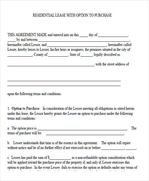 residential lease purchase agreement in pdf