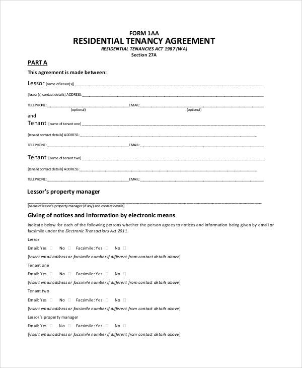 Best Residential Tenancies Act Wa Lease Agreement Image Collection
