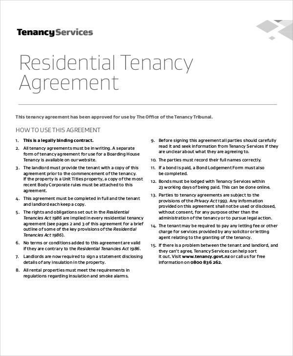 residential tenancy agreement4