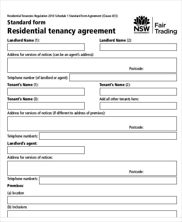 residential tenancy agreement5