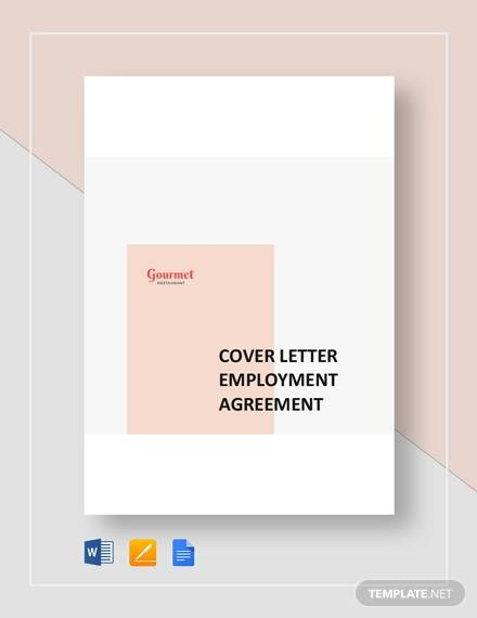 restaurant cover letter employment agreement