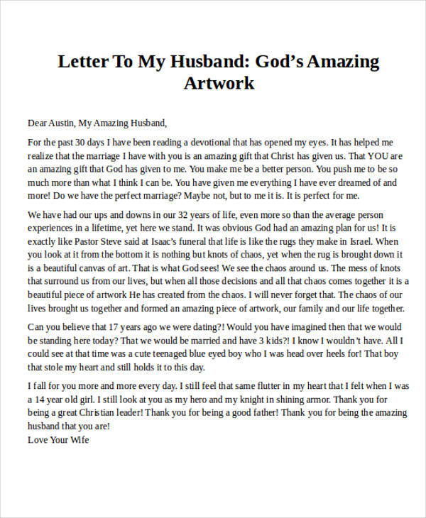 romantic love letter for husband