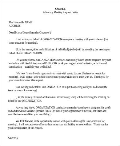 Advocacy letter sample for Advocacy letter template