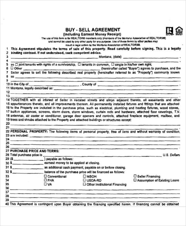 Sell Agreement Template Free 28 Images Sell
