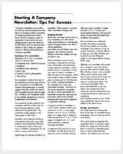 sample-company-newsletter