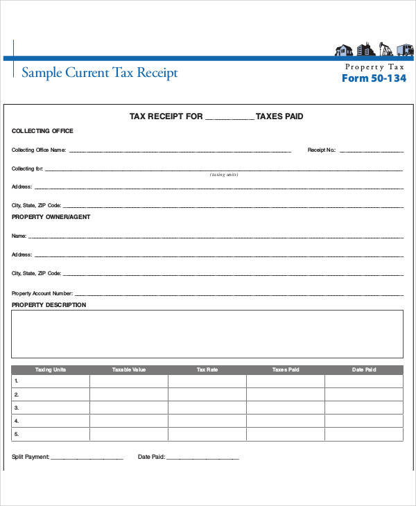 sample current tax payment receipt
