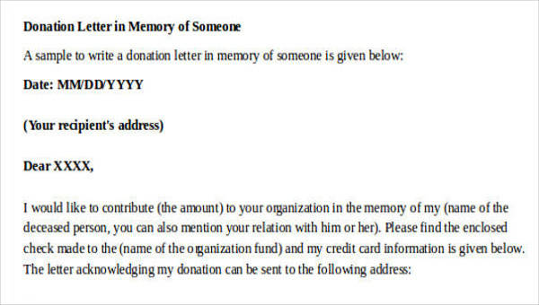37  sample donation letters