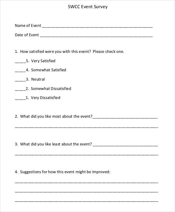 sample of questionnaire form