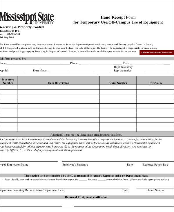 37 sample receipt forms in pdf sample templates sample hand receipt form maxwellsz