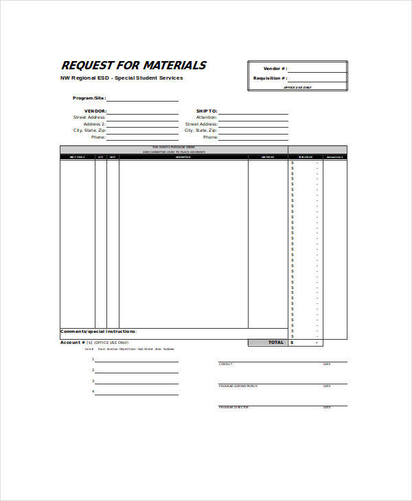 Sample Requisition Form Purchase Requisition Form Template Purchase